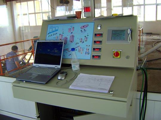 Пулт за управление и контрол на алуминиев сулфат